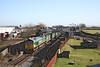 27 January 2012 :: 66561 passes Quainton Road with 6M22, Cricklewdd to Calvert bins