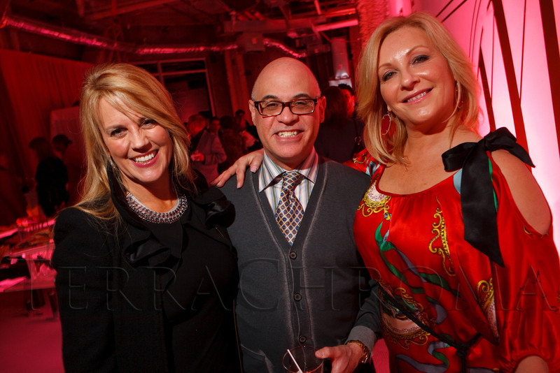 """Anita Solich, Charles Goldstein, and Terri Barnes.  Ticket release party for """"Yves Saint Laurent:  A Retrospective,"""" benefiting the Denver Art Museum, at The Ritz-Carlton, Denver, in Denver, Colorado, on Wednesday, Jan. 18, 2012.<br /> Photo Steve Peterson"""