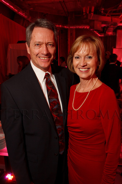 "Peter Johnson and Marie Belew Wheatley.  Ticket release party for ""Yves Saint Laurent:  A Retrospective,"" benefiting the Denver Art Museum, at The Ritz-Carlton, Denver, in Denver, Colorado, on Wednesday, Jan. 18, 2012.<br /> Photo Steve Peterson"