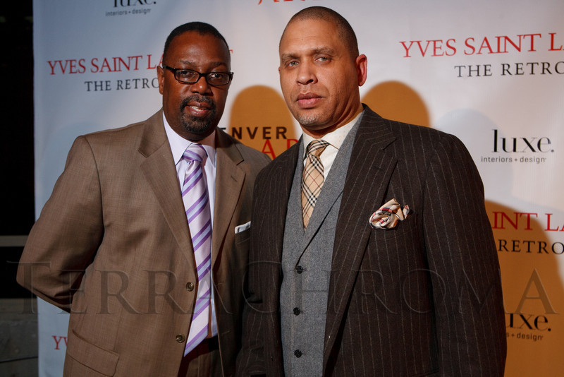 "Wil Alston and Chris Christmas.  Ticket release party for ""Yves Saint Laurent:  A Retrospective,"" benefiting the Denver Art Museum, at The Ritz-Carlton, Denver, in Denver, Colorado, on Wednesday, Jan. 18, 2012.<br /> Photo Steve Peterson"