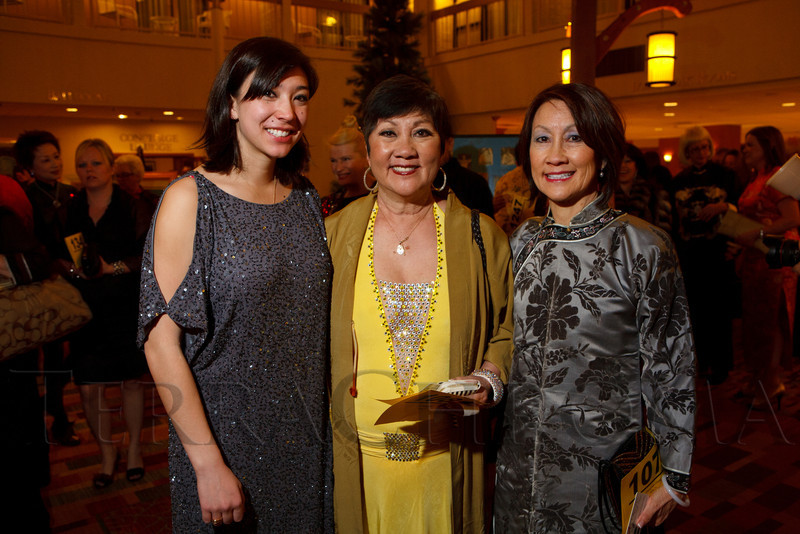 Rory Grant, Edna Chang Grant, and Cheng Hsin Chang.  The 10th Annual Chinese New Year Gala, benefiting the Nathan Yip Foundation, at Denver Marriott Tech Center in Denver, Colorado, on Saturday, Jan. 28, 2012.<br /> Photo Steve Peterson