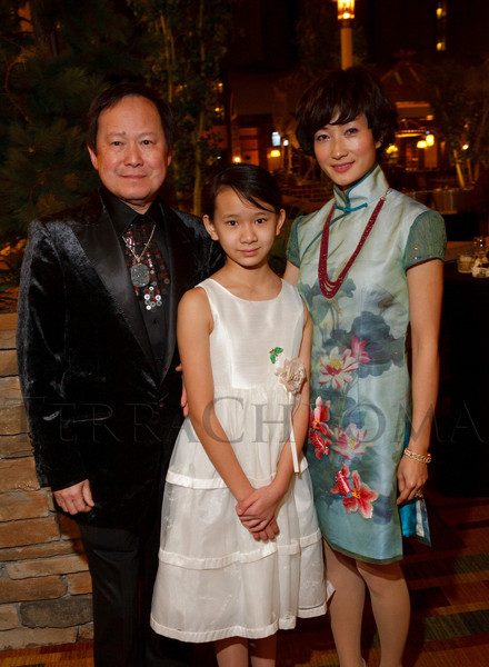Dennis Law, Jade Law, and Alyssa XiaoLi Law.  The 10th Annual Chinese New Year Gala, benefiting the Nathan Yip Foundation, at Denver Marriott Tech Center in Denver, Colorado, on Saturday, Jan. 28, 2012.<br /> Photo Steve Peterson