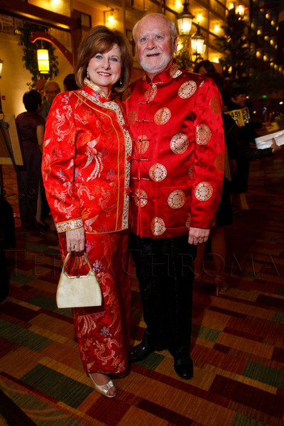 Okie Arnot and Dennis Johnson.  The 10th Annual Chinese New Year Gala, benefiting the Nathan Yip Foundation, at Denver Marriott Tech Center in Denver, Colorado, on Saturday, Jan. 28, 2012.<br /> Photo Steve Peterson