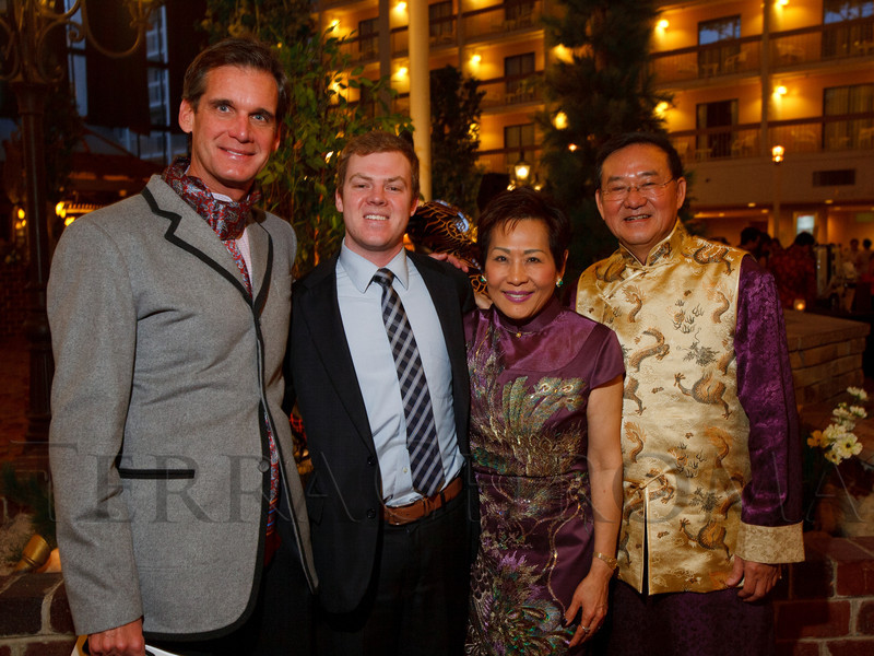 David Thomson, Keith Bell,  and Linda and Jimmy Yip.  The 10th Annual Chinese New Year Gala, benefiting the Nathan Yip Foundation, at Denver Marriott Tech Center in Denver, Colorado, on Saturday, Jan. 28, 2012.<br /> Photo Steve Peterson