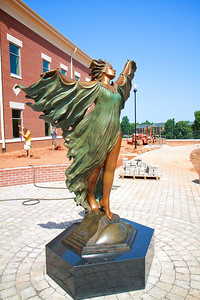 Aurora statue placed beside the Tucker Student Center at Gardner-Webb University