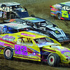 Rubbin: Several cars attempt to occupy the same piece of real estate during action at the Vigo County Fairgrouds Thursday evening.