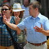 Tribune-Star/Jim Avelis<br /> Guide: Tommy Kleckner, director of the western regional office of the Indiana Landmarks foundation, led a walking tour in downtown Terre Haute Thursday afternoon.