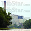 Tribune-Star/Jim Avelis<br /> Low water: Record low water levels and flow on the Wabash River are causing concerns for Duke Energy at the Wabash River generating station.