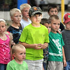Instructions: Kids participating in the tractor pull line up for instructions prior to the start of the event Sunday at the Vigo County Fairgrounds.