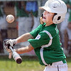 Tongue twister: West Vigo's #9 Clae Burson makes contact and fouls the ball out of play during game action against North Terre Haute 9-10's Sunday morning.