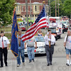 Tribune-Star/Jim Avelis<br /> Remembering: Members of American Legion Post 48 lead the Montezuma Independence parade through town Saturday morning.