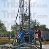 Tribune-Star/Jim Avelis<br /> 180 feet: Van Gilder Well Drilling is drilling a new well for Tillie Powers in Lewis, in southeast Vigo County. Powers' dug well ws getting low, so she opted for a more reliable source of water.