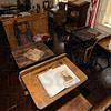 Tribune-Star/Joseph C. Garza<br /> School is in session: Visitors to the Vigo County Historical Museum can see a display of antique school desks and other vintage school items in a room on the second floor.