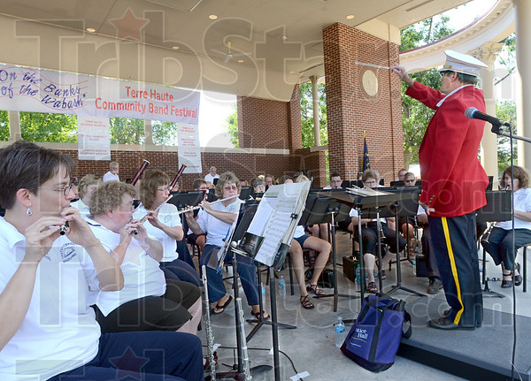 Combo: The Brazil Concert Band and the Marshal City Band join forces to perform Saturday afternoon at Fairbanks Park.
