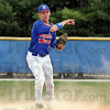 Dust bowl: Post 346 shortstop #6 Daniel Marlow fires a fielded ball to first base to get the batter out during game action Saturday afternoon.