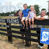 Gerrish: Anita and Steven Gerrish with their two grandchildren, Parker (5) and Maia (2) on their Parke County Hoosier Homestead Farm Monday afternoon.
