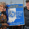 100 Years: Romilene and Larry Burnett proudly display their Hoosier Homestead Farm sign presented by the Indiana State Department of Agriculture.