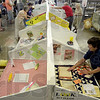 Tribune-Star/Joseph C. Garza<br /> Fairly close to opening day: Dianne Reeves, a 35-year member of the Lafayette Homemakers, sets up the group's display during preparation for the Vigo County Fair Saturday at the Wabash Valley Fairgrounds.