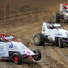 Tribune-Star/Jim Avelis<br /> Leader: Shane Cottle  leads other racers around turn four in their heat race Wednesday evening at the Terre Haute Action track.