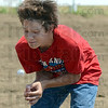 Tribune-Star/Jim Avelis<br /> Near miss: Brandon Fickling avoids a mess in the egg toss game at the Horse Show Wednesday afternoon.