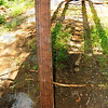 Tribune-Star/Jim Avelis<br /> Recycled: The center support for the new Wabashiki Trail bridge came from Hawthorn Park where it was in its second life as  a lamp post.