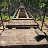 Tribune-Star/Jim Avelis<br /> Bridge to somewhere: Work is well under way on the new Wabashiki Trail bridge. Two 90 foot long spans make up the bridge, carrying the walking trial over a washed out portion of an agricultural levee south of West Terre Haute.