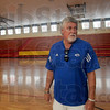 Gym: Boy's and Girl's Club executive director Jim Smith tours the former school gymnasium Tuesday morning.