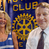 Stewart - Baesler: Sally Stewart and Bob Baesler were presented Rotary awards for community service Tuesday afternoon.