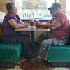 Tribune-Star/Jim Avelis<br /> Hometown: Lynne and Fred Brough relax in the A&W restaurant in Clay City Tuesday afternoon.