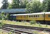 24 July 2012 ::  At Andover, 73201 and the leading coach partly de-railed on the branch to Ludgershal showing both out of the normal allignment