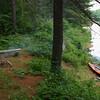 campsite on Cauchon Lake