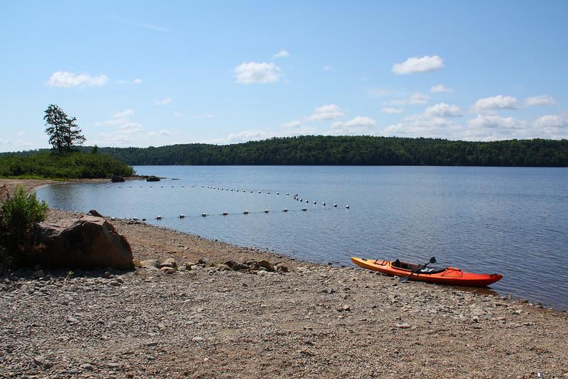 Starting point, on Kioshkokwi Lake