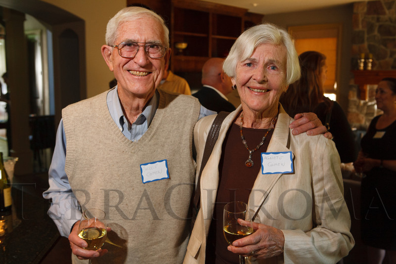 Phillip and Agnete Cohen.  Historic Elitch Gardens Theatre fundraiser at the home of Jamie Van Leeuwen in Denver, Colorado, on Tuesday, July 10, 2012.<br /> Photo Steve Peterson
