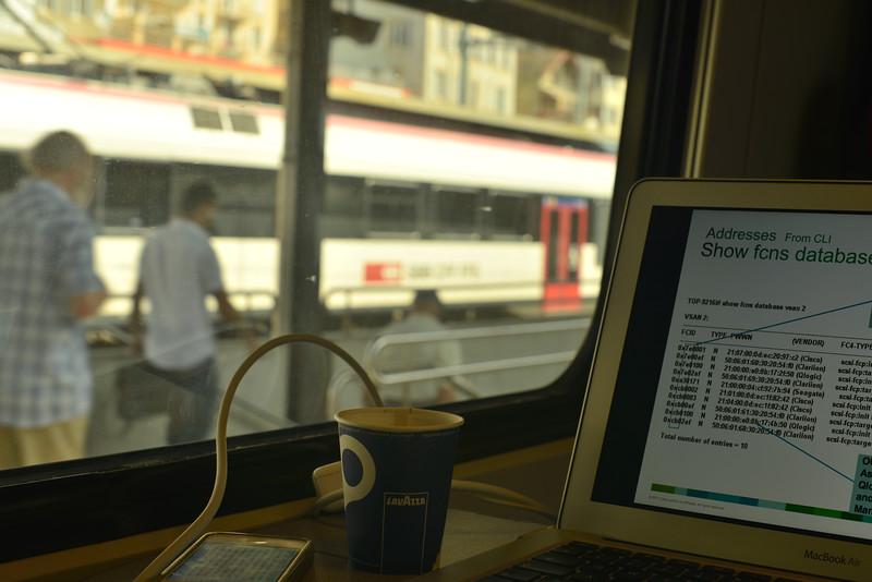 Die Fahrt zur Arbeit kann ganz entspannend sein mit der SBB...besser als im Stau allemal..
