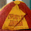 Tribune-Star/Joseph C. Garza<br /> From days gone by: A Chauncey Rose Junior High School beanie is on display in one of the display cases at the school.
