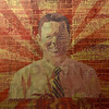 Tribune-Star/Joseph C. Garza<br /> ...always a Royal: This painting of Chauncey Rose Middle School Principal Greg Gauer was done by former CRMS art teacher Ricardo Hutchins and hangs in Gauer's office.