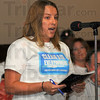 Tribune-Star/Jim Avelis<br /> Clean air advocate: Alia Hazel was the first speaker at Thursday night's Terre Haute City Council meeting.