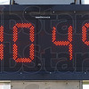 Hot: The temperature sign in Seelyville shows 104 degrees Thursday afternoon about 3:00 p.m.