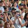 Whistle: A West Vigo parent whistles as others take photographs and videos during the Commencement Sunday evening in the school gym.