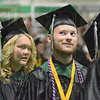 Happy daze: A West Vigo graduate smiles as he listens to family and friends making comments to him during Sunday's graduation ceremony.