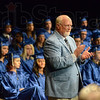Applause: McLean High School principal Rick Stevens recognizes parents of graduates of the class of 2012 during Friday's Commencement ceremony.
