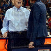 Tribune-Star/Joseph C. Garza<br /> Father of Title IX: Former U.S. Senator Birch Bayh shares a laugh with Indiana Fever COO and GM Kelly Krauskopf during a pre-game ceremony to honor Bayh for his involvement in the historic Title IX legislation Thursday, June 21, in Indianapolis.
