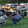 Car show: Participants in the Clay City Lions Club Car Show find available shade to enjoy warm temperatures and light breeze during Saturday's event at Goshorn Park.