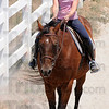 Tribune-Star/Jim Avelis<br /> Proper equitation: Gabby Fritz guides her horse around the arena at St. Mary-of-the-Woods Wednesday afternoon. The day campers learned the basics of control, care and proper equitation in their three day camp.