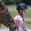 Tribune-Star/Jim Avelis<br /> Here to learn: Gabby Fritz was one of ten girls attending the equestrian day camp St. Mary-of-the-Woods this week. Here she leads her horse into the arena for a demonstration on the final day.
