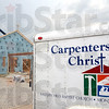 Construction: Carpenters for Christ trailer at the Crossroads Baptist Church construction site.