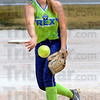 Heat: Lady Rex pitcher Marissa Stout fires a pitch to the plate during Monday's workout at the Miss Softball complex.
