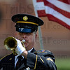 Tribune-Star/Joseph C. Garza<br /> Military tradition for the fallen: Staff Sgt. Glen Johnson of the Indiana National Guard Ceremonial Unit-Stout Field plays Taps during the military burial ceremony for Spc. Arronn Fields Tuesday at Clearview Cemetery near Brazil.