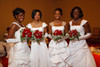 Kelsey Biddix, Amber Ford, Akila Copeland, and Gabrielle Martin.  The 61st Annual Owl Club of Denver Debutante Cotillion at the Denver Marriott City Center near Denver, Colorado, on Saturday, June 2, 2012.<br /> Photo Steve Peterson