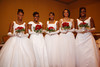 Cayla Harris, Keana Johnston, Sheldyn Merrell, Ashanti Gosha, and Bria May.  The 61st Annual Owl Club of Denver Debutante Cotillion at the Denver Marriott City Center near Denver, Colorado, on Saturday, June 2, 2012.<br /> Photo Steve Peterson
